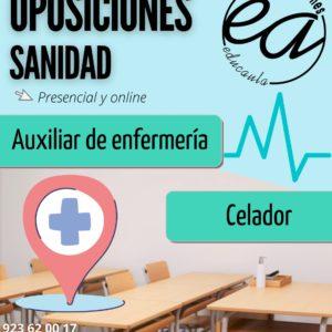 EDUCAULA PREPARA OPOSICIONES A SANIDAD (celadores y auxiliar de enfermería) PRESENCIAL Y ONLINE 2021-22