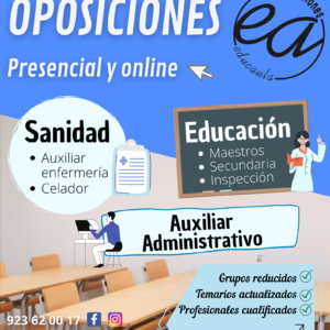 EDUCAULA ACADEMIA DE PREPARACIÓN DE OPOSICIONES DOCENTES AL  CUERPO DE SECUNDARIA 2021-22, ESPECIALIDADES DE TECNOLOGÍA Y ORIENTACIÓN EDUCATIVA. (modalidad presencial y online)