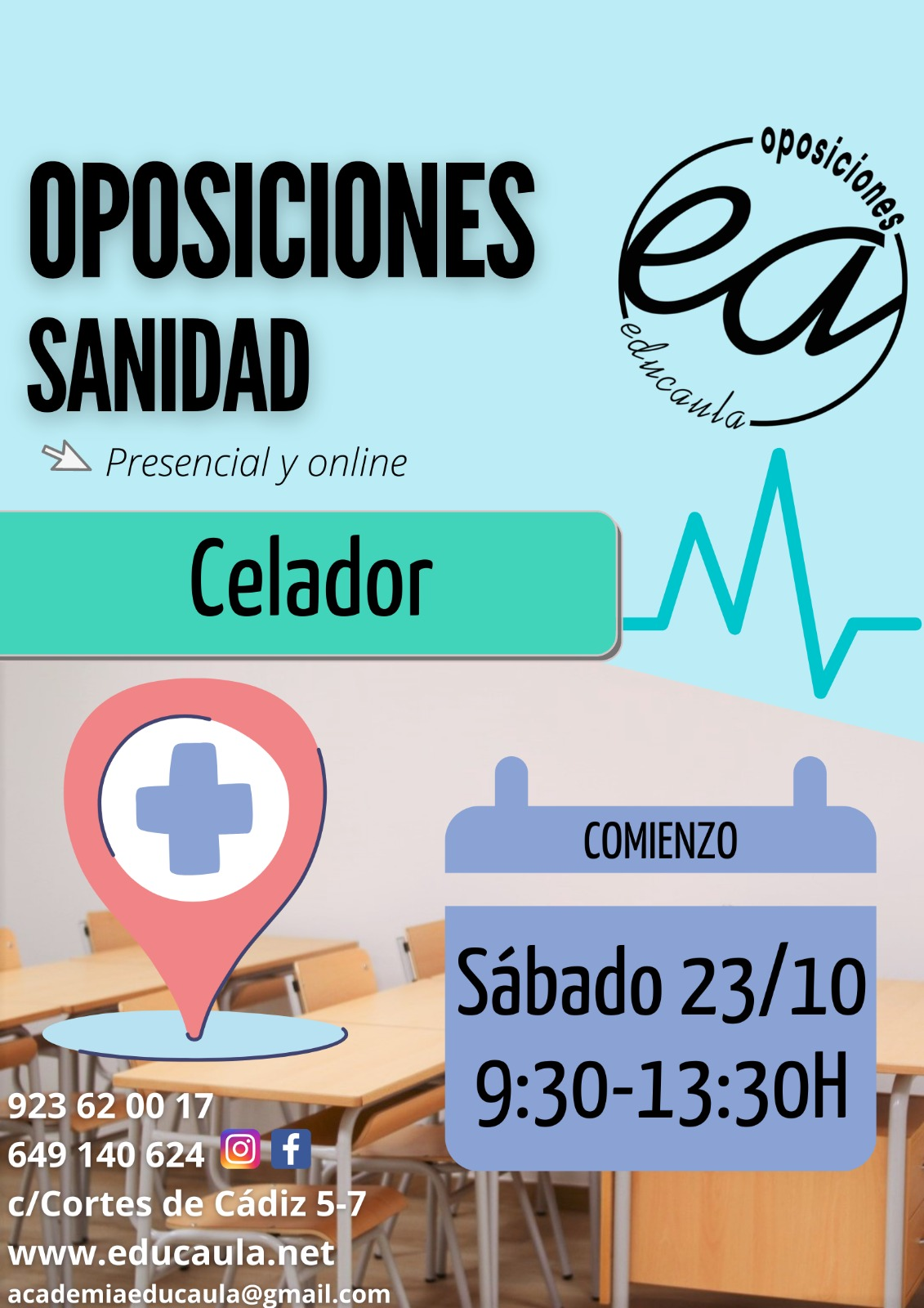 Educaula prepara oposiciones de Celador 2021